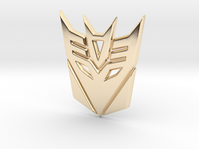 Decepticon Logo in 14K Yellow Gold