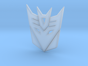 Decepticon Logo in Smooth Fine Detail Plastic