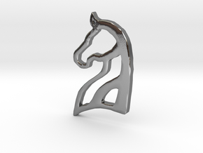 Arabian Horse Pendant in Polished Silver