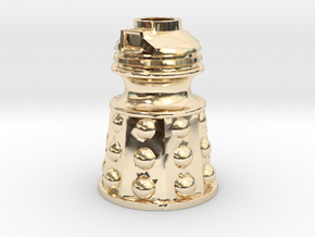 Dalek Post Version B in 14K Yellow Gold