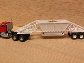 1:160 N Scale Bottom Dump Trailer x2 in Smooth Fine Detail Plastic