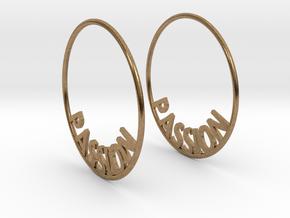 Custom Hoop Earrings - Passion 40mm in Natural Brass