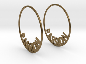 Custom Hoop Earrings - Passion 40mm in Natural Bronze
