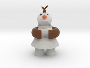 Olaf The Frozen Snow Man in Full Color Sandstone