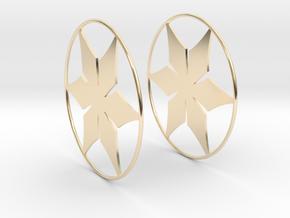 Flowerish 12 Big Hoop Earrings 60mm in 14K Yellow Gold