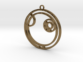Alex - Necklace in Polished Bronze