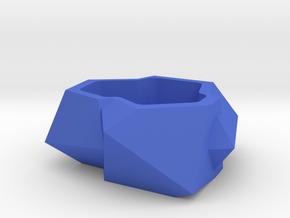 Designer plant pot in Blue Strong & Flexible Polished
