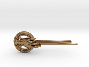 Hand of the King Tie Clip in Natural Brass