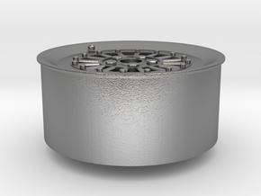 Car Rim for Model Scale 1/24 in Natural Silver