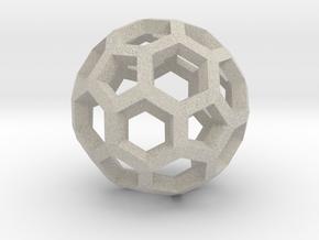 Soccerball pendiente in Natural Sandstone