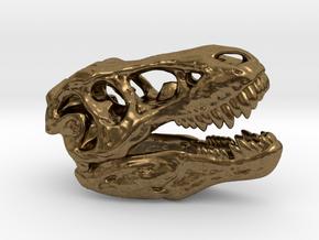 Tyrannosaurus rex skull - 40mm in Natural Bronze