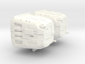 Mesudiye Class Assault Cruiser - 1:20000  in White Processed Versatile Plastic