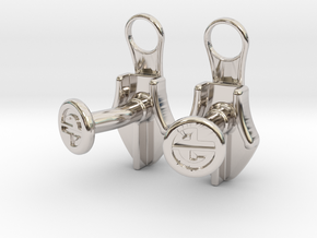 Zipper Cufflinks in Platinum