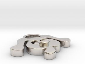 LOVE DOG (Pendant or Earring) in Platinum