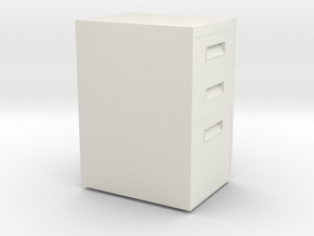 HTLA Filing Cabinet 5% in White Natural Versatile Plastic