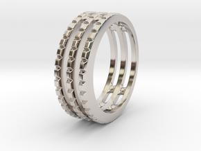 Tri Band - Size 11.5 in Platinum