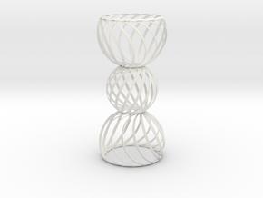 Spiral Globe Column in White Strong & Flexible
