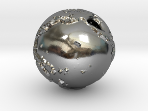 Globe Pendant in Polished Silver