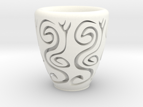 Orient coffee cup in White Processed Versatile Plastic
