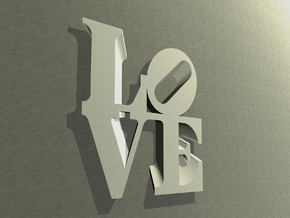 The Love Sculpture Wall decoration 18cm in White Strong & Flexible