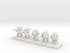 TA ARM Pewee Squad - 1cm tall in White Natural Versatile Plastic