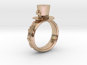 St Patrick's hat ring(USA 5.5,Japan 10, Britain K) in 14k Rose Gold