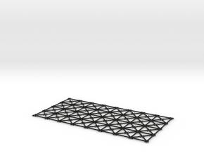 Simulation Mesh - Two Diagonals / Centroid Joint in Black Natural Versatile Plastic