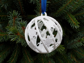 The Star Money Christmas Bulb in White Strong & Flexible Polished