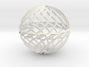 Decorative Ball Twist Spiral V2 in White Natural Versatile Plastic