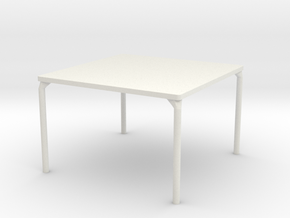 HTLA Square Table: 5% in White Strong & Flexible