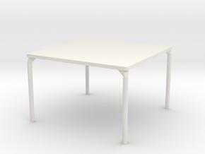 HTLA Square Table: 5% in White Natural Versatile Plastic