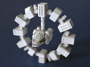 ENDURANCE spacecraft 1/1000 (64mm) in White Natural Versatile Plastic