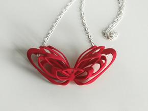 Ribbon Necklace in White Natural Versatile Plastic