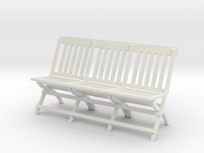 1:24 Vintage Folding School Chair, Triple in White Natural Versatile Plastic