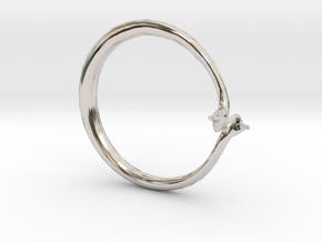 Cygnus Olor Swan Ring in Platinum