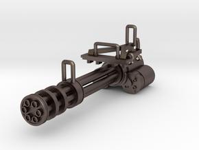 Gatling gun in Polished Bronzed Silver Steel