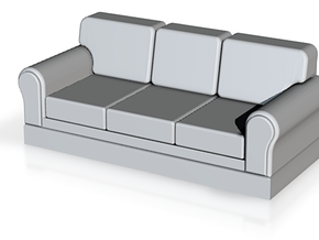 Miniature 1:48 Sofa in White Strong & Flexible