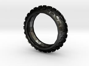 Motorcycle/Dirt Bike/Scrambler Tire Ring Size 12 in Matte Black Steel