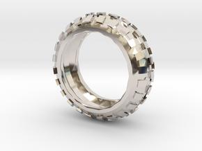 Motorcycle/Dirt Bike/Scrambler Tire Ring Size 8 in Platinum