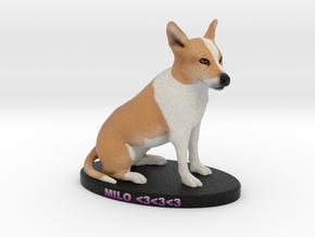 Custom Dog Figurine - Milo in Full Color Sandstone