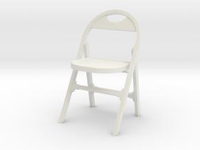 1:24 Vintage Folding Chair in White Natural Versatile Plastic
