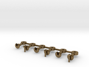 NZ120 NZR Coupler - 3x Pairs Circular  in Natural Bronze