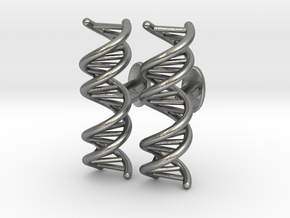 DNA Cufflink in Natural Silver