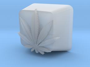 Marijuana Leaf Cherry MX Keycap in Smooth Fine Detail Plastic