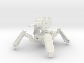 1/144 KV-2 spider tank in White Natural Versatile Plastic