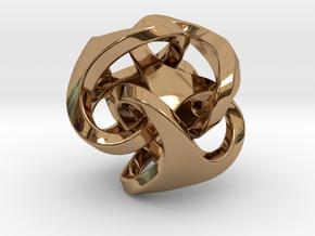 Ora Earring in Polished Brass