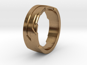 Ring Size I in Natural Brass