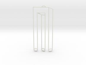 Blivet necklace in White Natural Versatile Plastic