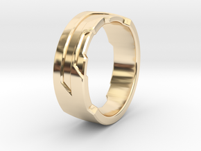 Ring Size R in 14K Yellow Gold