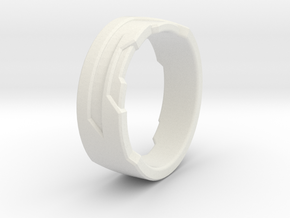 Ring Size Y in White Natural Versatile Plastic